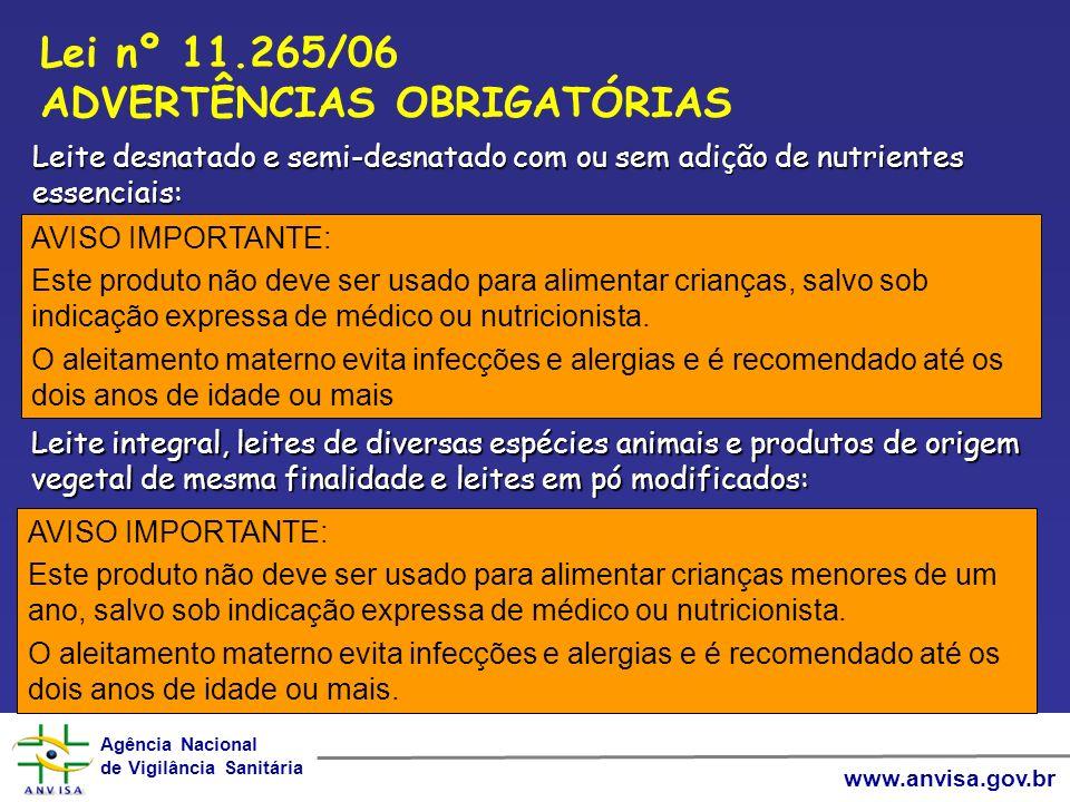 Agência Nacional de Vigilância Sanitária Agência Nacional de Vigilância Sanitária www.anvisa.gov.br AVISO IMPORTANTE: Este produto não deve ser usado