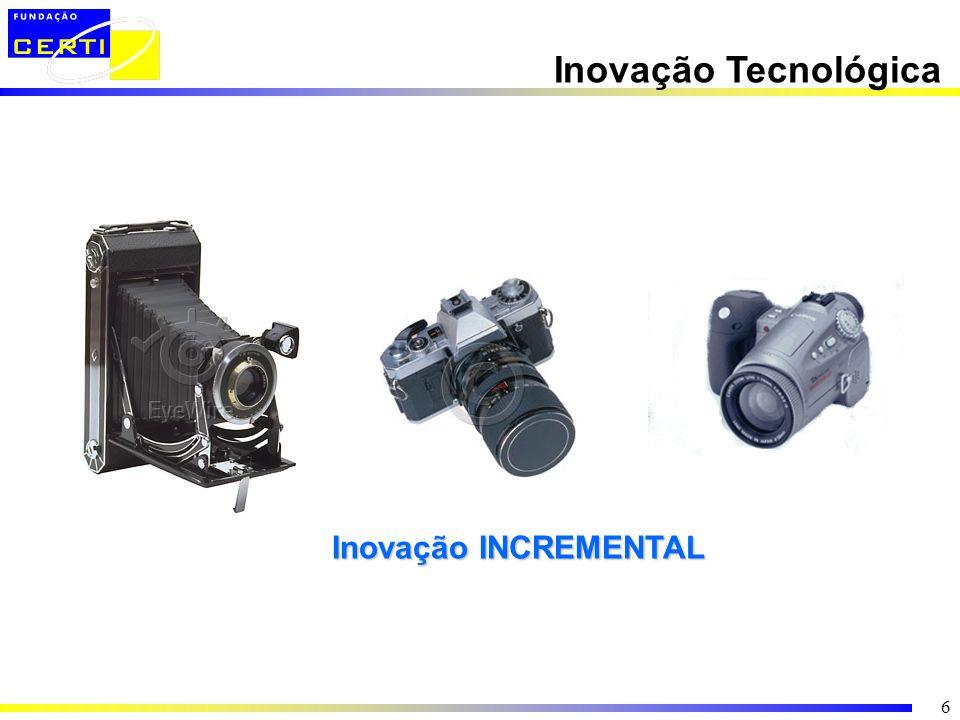 6 Inovação Tecnológica Inovação INCREMENTAL Inovação INCREMENTAL