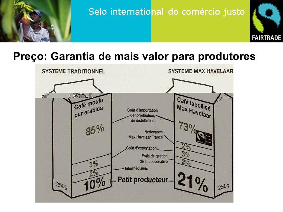 Selo international do comércio justo Preço: Garantia de mais valor para produtores