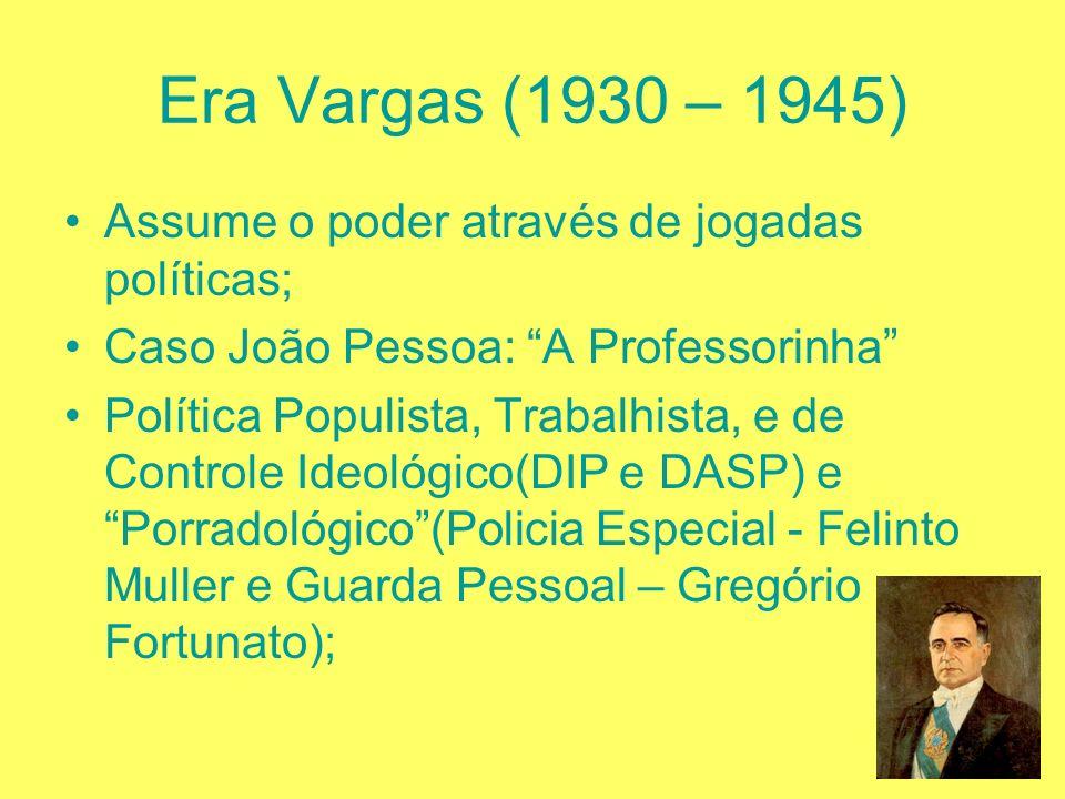 Governo Washington Luis (1926- 1930) Aumento da Oposição; Crise Econômica Mundial(1929); Problema sucessório: Julio Prestes(paulista) ao invés do mine