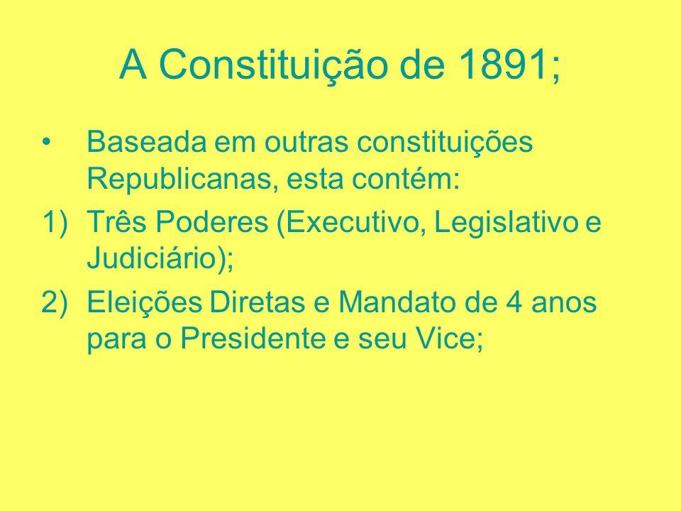 O Encilhamento; Rui Barbosa, ministro da Fazenda tem a Brilhante idéia: Pluriemissão de moeda; Conseqüências: 1)Mega Inflação; 2)Desvalorização da moe