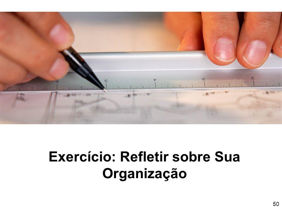 50 Exercício: Refletir sobre Sua Organização