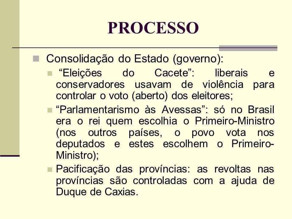 PROCESSO Consolidação do Estado (governo): Eleições do Cacete: liberais e conservadores usavam de violência para controlar o voto (aberto) dos eleitor