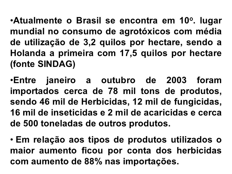 Resíduos de pesticidas em alimentos (2004)