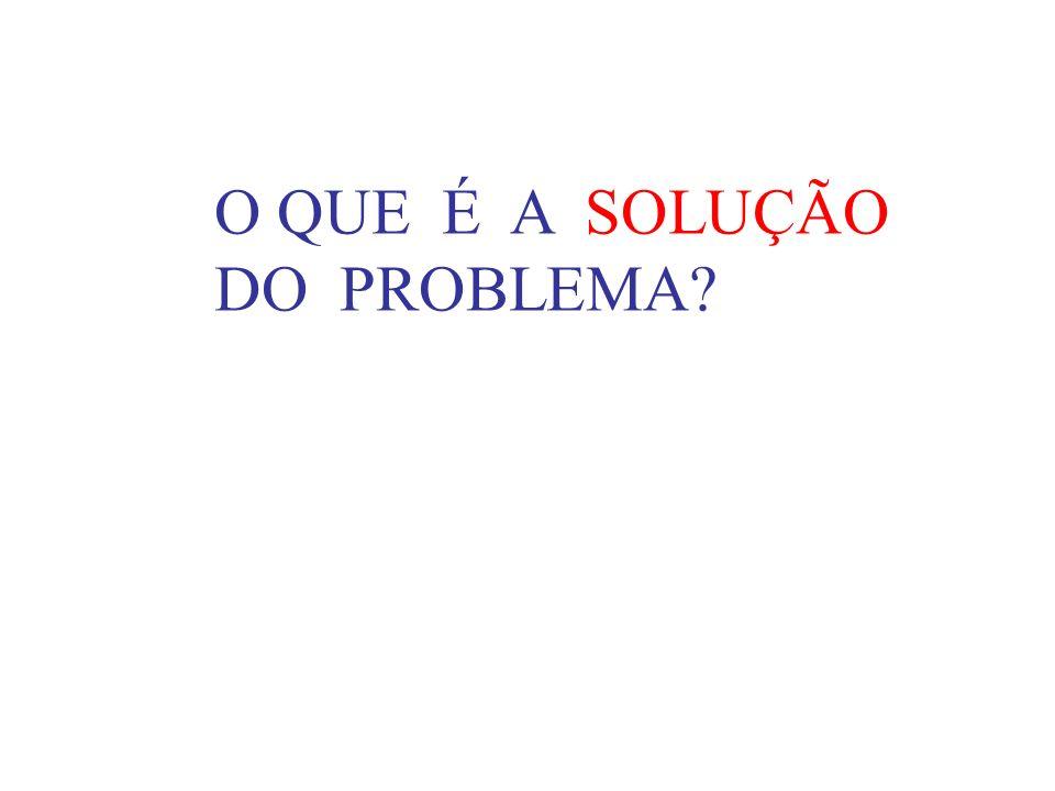 O QUE É A SOLUÇÃO DO PROBLEMA?