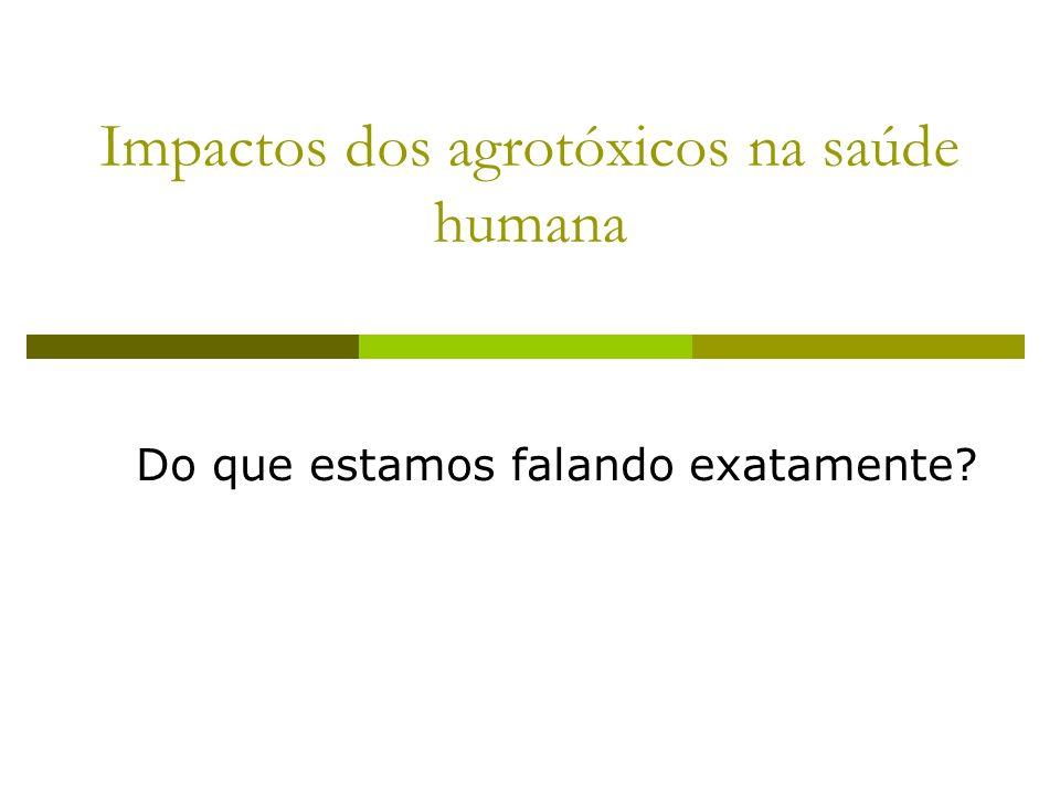 Impactos dos agrotóxicos na saúde humana Do que estamos falando exatamente?