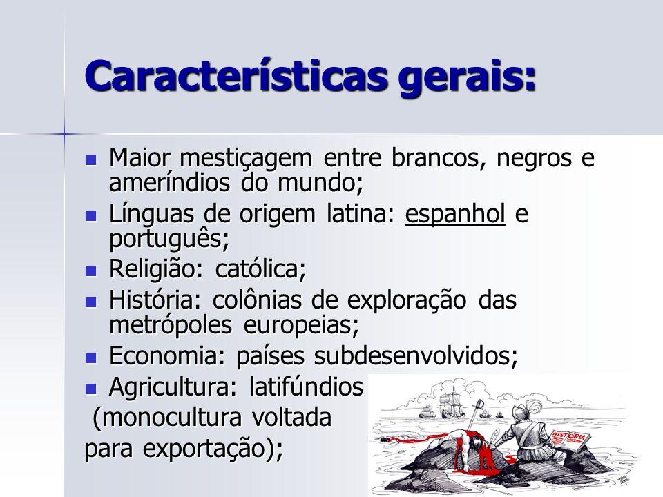 Classificações da América dos países da América Latina: Industrializados: Brasil, Argentina e México.
