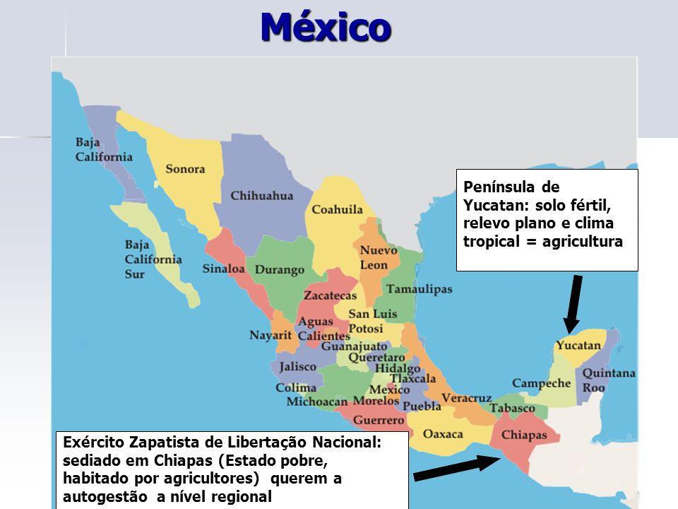 07.07. (UFMS) O México, apesar de ser um país agrícola, destaca-se no crescimento industrial.