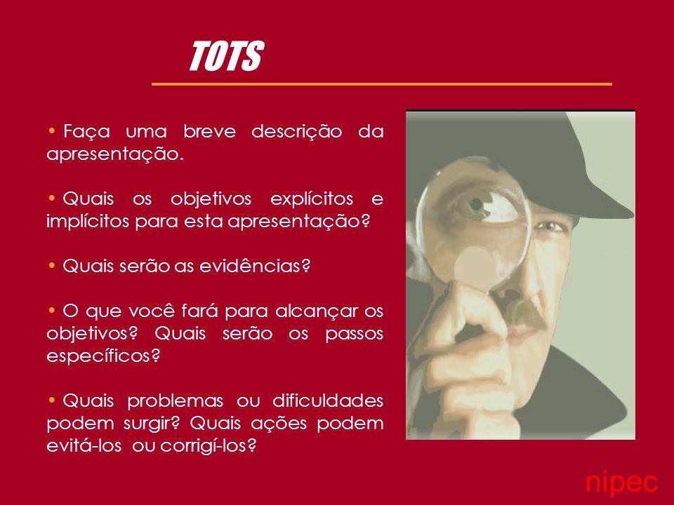 TOTS Faça uma breve descrição da apresentação.