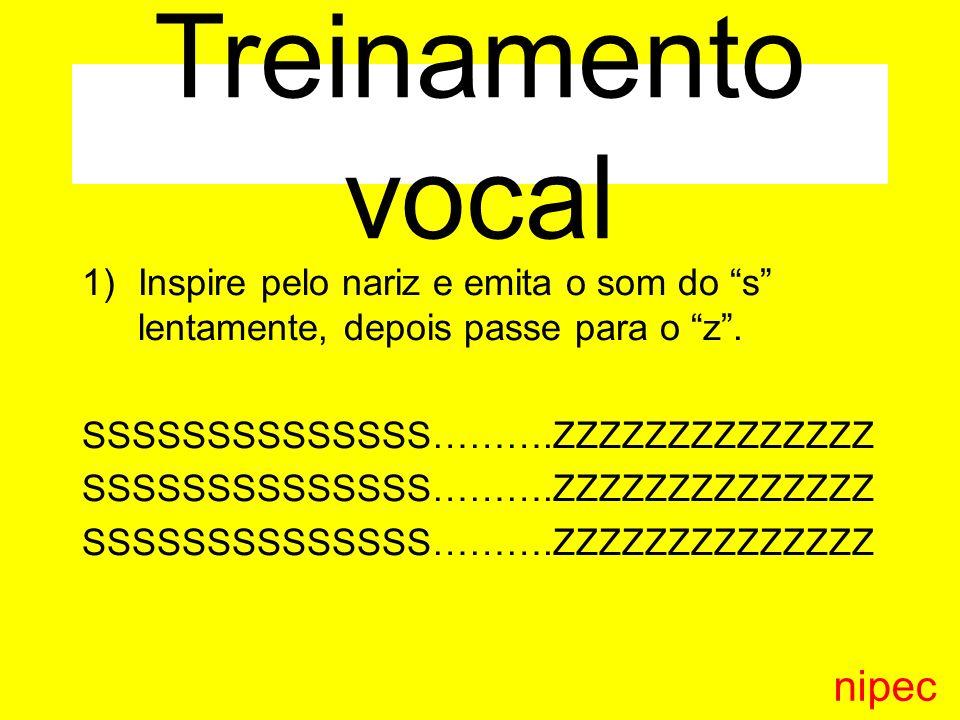 1)Inspire pelo nariz e emita o som do s lentamente, depois passe para o z.