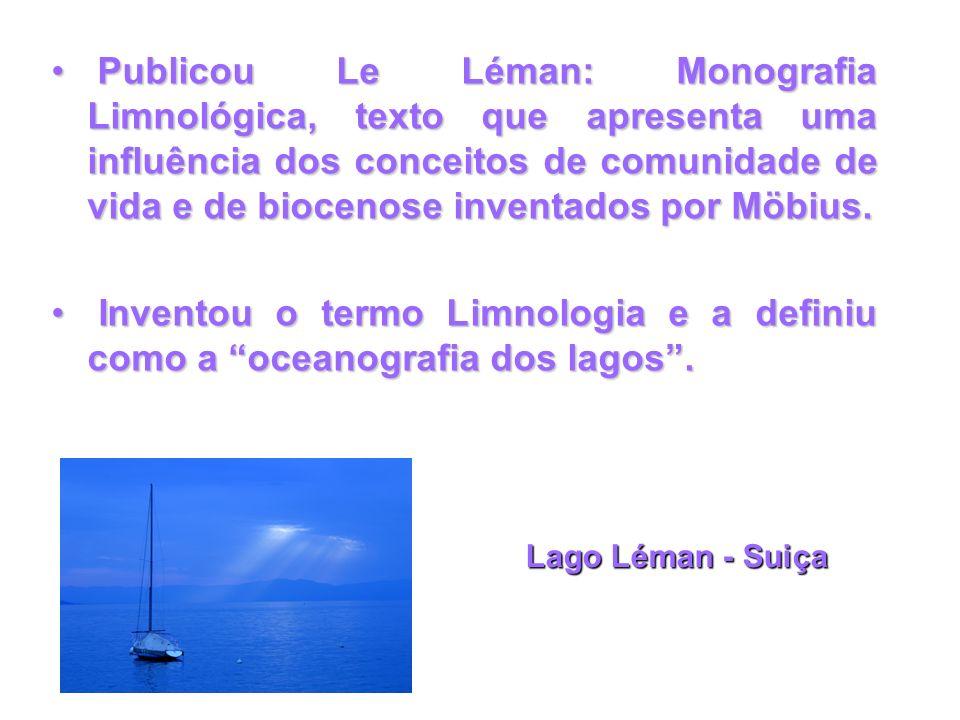 Publicou Le Léman: Monografia Limnológica, texto que apresenta uma influência dos conceitos de comunidade de vida e de biocenose inventados por Möbius