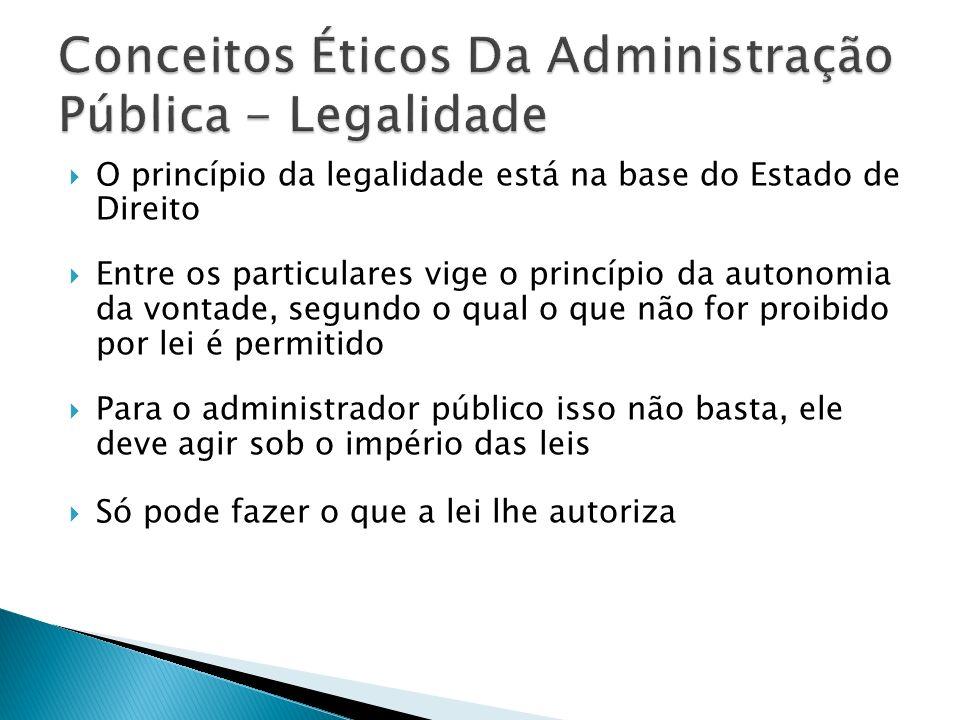 O princípio da legalidade está na base do Estado de Direito Entre os particulares vige o princípio da autonomia da vontade, segundo o qual o que não f
