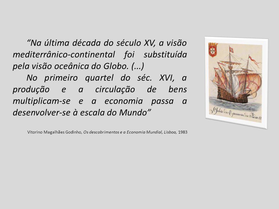 Na última década do século XV, a visão mediterrânico-continental foi substituída pela visão oceânica do Globo.