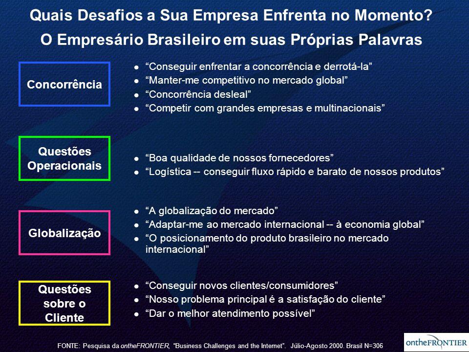 14 Quais Desafios a Sua Empresa Enfrenta no Momento? O Empresário Brasileiro em suas Próprias Palavras Conseguir enfrentar a concorrência e derrotá-la