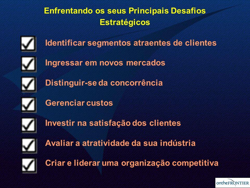 15 Identificar segmentos atraentes de clientes Ingressar em novos mercados Distinguir-se da concorrência Gerenciar custos Investir na satisfação dos c