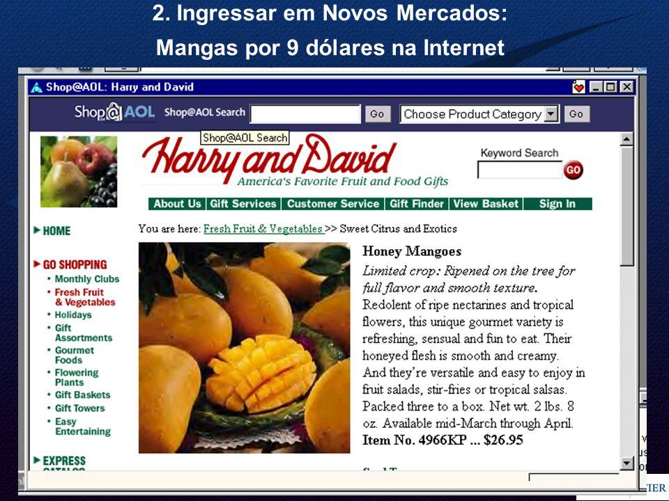 18 2. Ingressar em Novos Mercados: Mangas por 9 dólares na Internet
