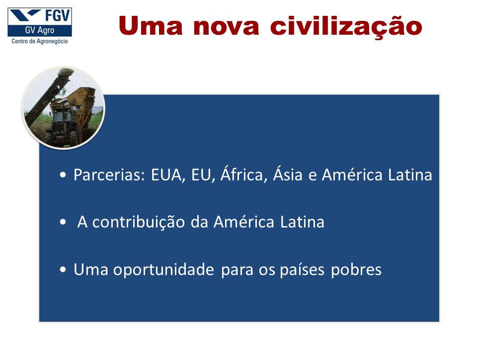 Parcerias: EUA, EU, África, Ásia e América Latina A contribuição da América Latina Uma oportunidade para os países pobres Uma nova civilização