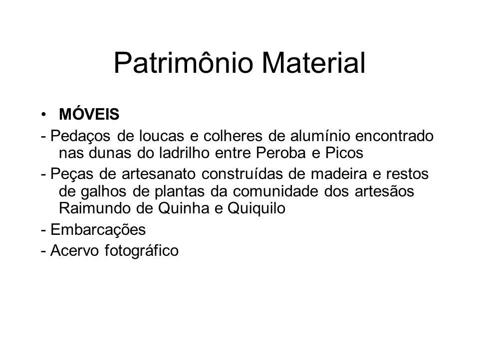 Patrimônio Material MÓVEIS - Pedaços de loucas e colheres de alumínio encontrado nas dunas do ladrilho entre Peroba e Picos - Peças de artesanato cons