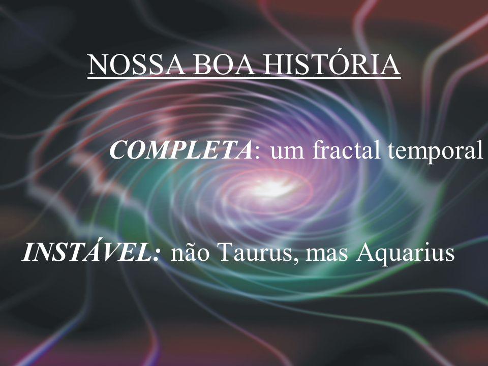 NOSSA BOA HISTÓRIA COMPLETA: um fractal temporal INSTÁVEL: não Taurus, mas Aquarius