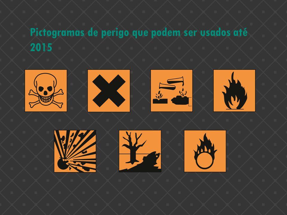 Pictogramas de perigo que podem ser usados até 2015
