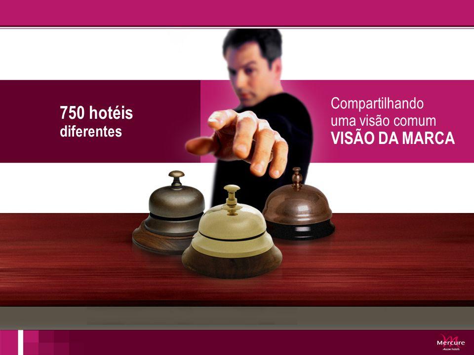 COMO ALINHAR ESTAS DIFERENÇÃS EM UMA ÚNICA REDE? 750 hotéis diferentes Compartilhando uma visão comum VISÃO DA MARCA