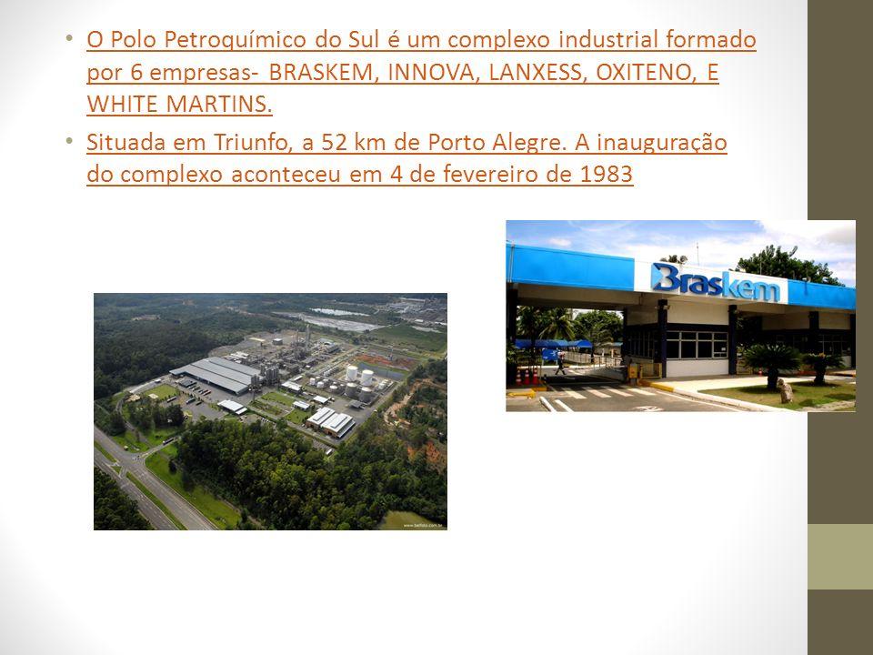 O Polo Petroquímico do Sul é um complexo industrial formado por 6 empresas- BRASKEM, INNOVA, LANXESS, OXITENO, E WHITE MARTINS. O Polo Petroquímico do