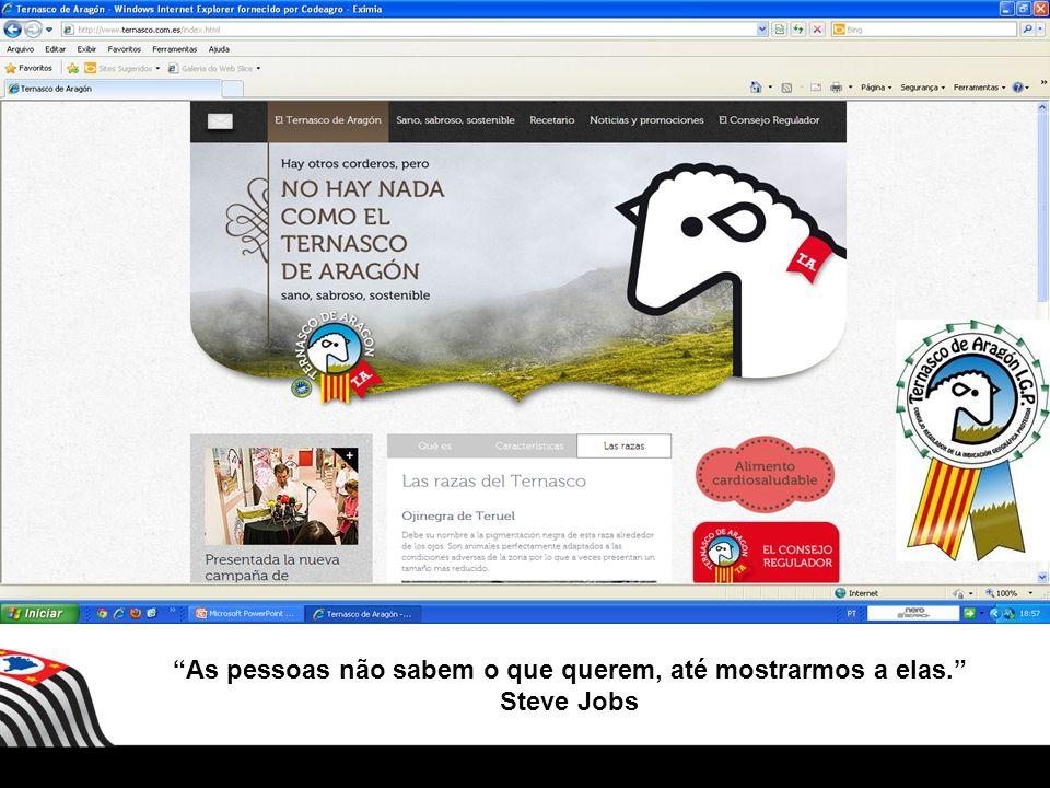As pessoas não sabem o que querem, até mostrarmos a elas. Steve Jobs