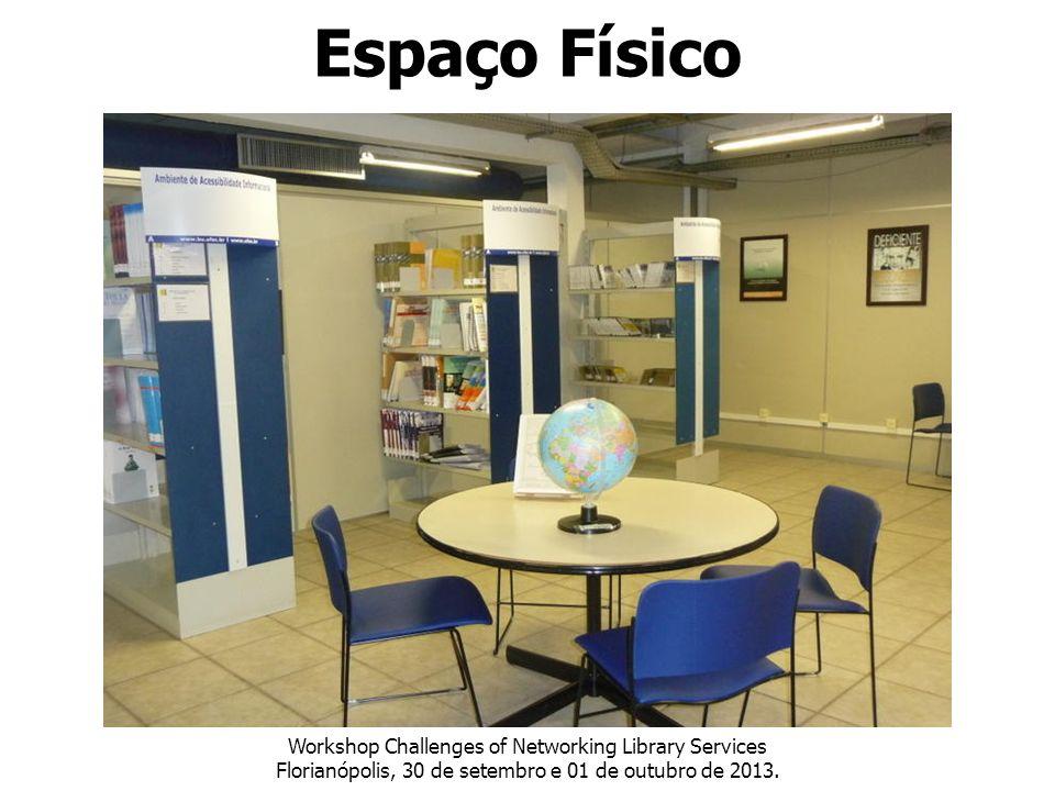 Workshop Challenges of Networking Library Services Florianópolis, 30 de setembro e 01 de outubro de 2013. Espaço Físico
