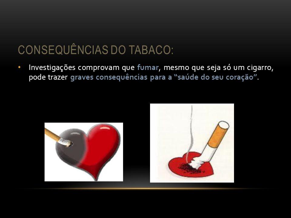 CONSEQUÊNCIAS DO TABACO: Investigações comprovam que fumar, mesmo que seja só um cigarro, pode trazer graves consequências para a saúde do seu coração