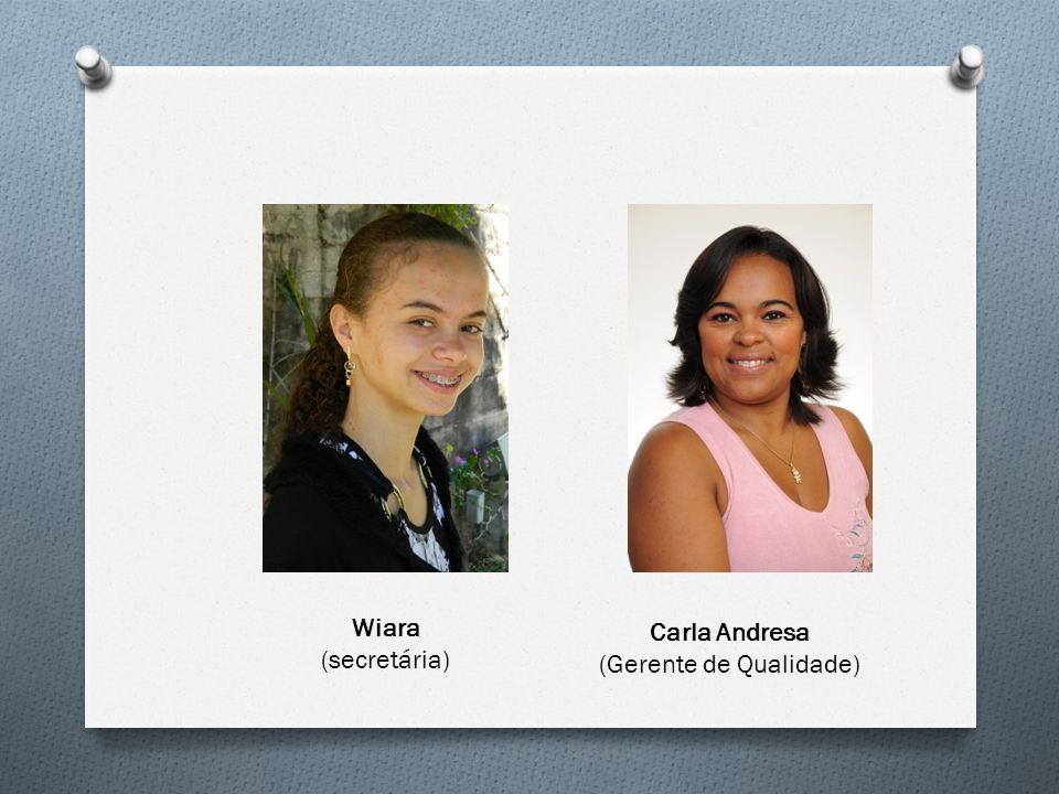 Wiara (secretária) Carla Andresa (Gerente de Qualidade)