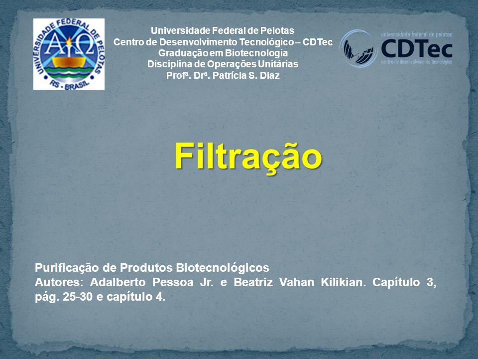 Filtração Purificação de Produtos Biotecnológicos Autores: Adalberto Pessoa Jr.