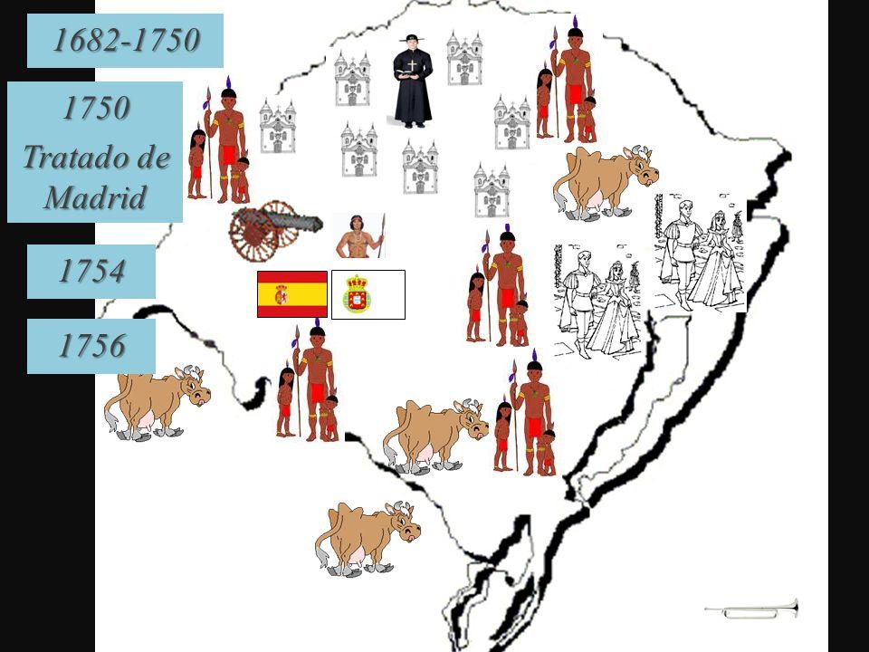 1682-1750 1750 Tratado de Madrid 1754 1756