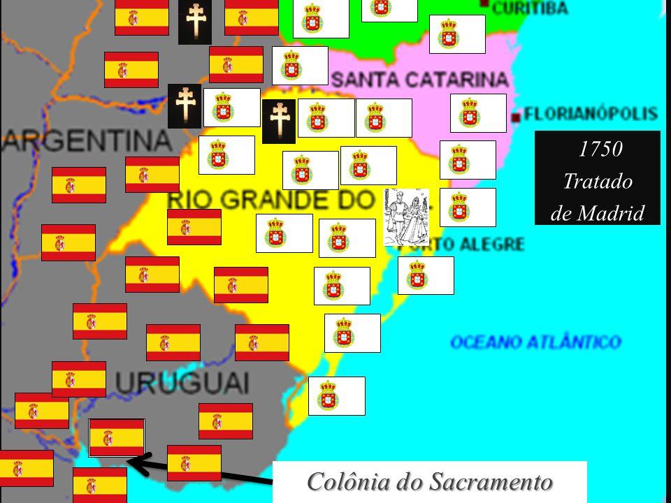 Colônia do Sacramento 1750 1750Tratado de Madrid