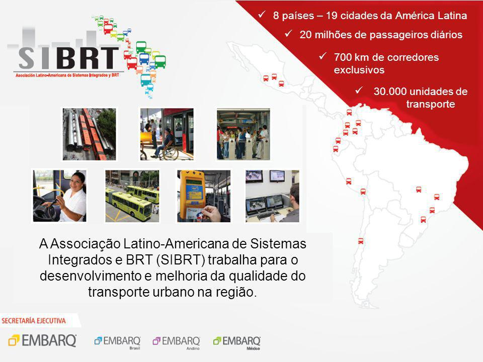 A Associação Latino-Americana de Sistemas Integrados e BRT (SIBRT) trabalha para o desenvolvimento e melhoria da qualidade do transporte urbano na reg