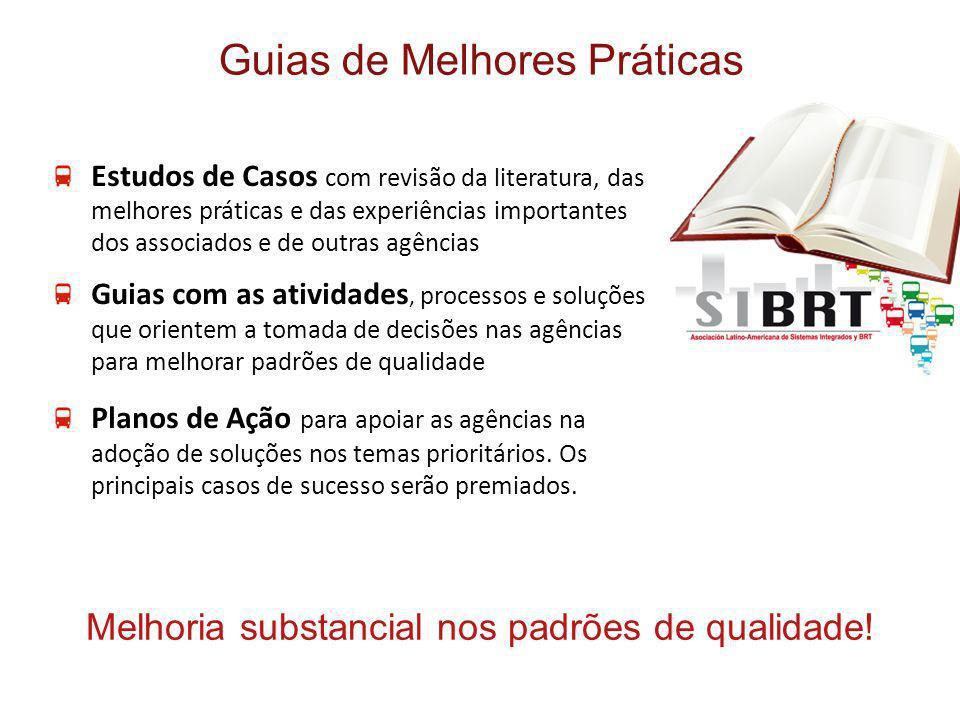 Estudos de Casos com revisão da literatura, das melhores práticas e das experiências importantes dos associados e de outras agências Guias com as ativ