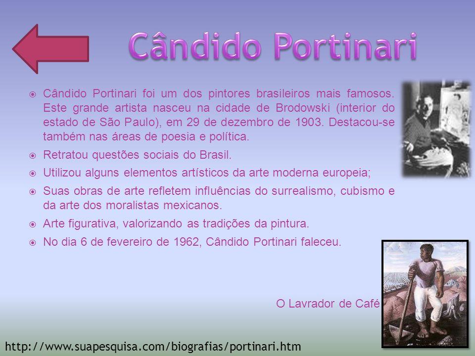 Tarsila do Amaral (Capivari, 1 de setembro de 1886 São Paulo, 17 de janeiro de 1973) foi uma pintora e desenhista brasileira e uma das figuras centrais da pintura brasileira e da primeira fase do movimento modernista brasileiro, ao lado de Anita Malfatti.