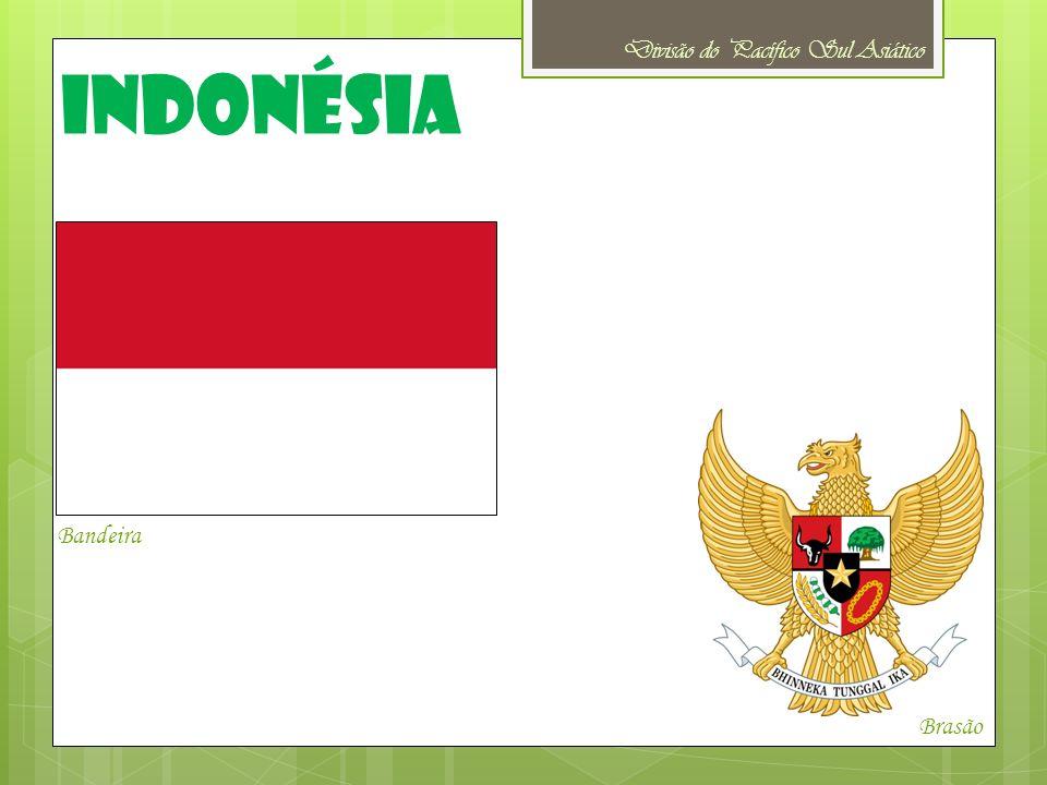 Idioma oficial: Língua Indonésia (bahasa indonésio) Capital: Jacarta Moeda: Rupia indonésia Religião: 86,1% da população segue o Islão, 8,7% da população é cristã (dentre os quais 3% são católicos) além disso, 3,4% é budista e 1,8% da população segue o Hinduísmo, além de outras religiões não especificadas Indonésia