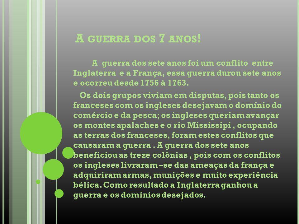 F IGURA 1= GUERRA DOS SETE ANOS : 1756- 1763).F IGURA 2= GUERRA DOS SETE ANOS : (1756- 1763).