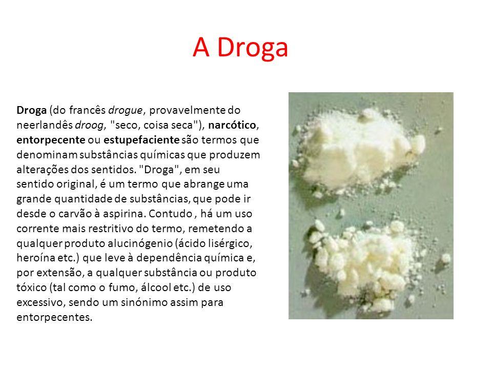 Conceito As drogas estão classificadas em três categorias: as estimulantes, os depressores e os perturbadores das actividades mentais.