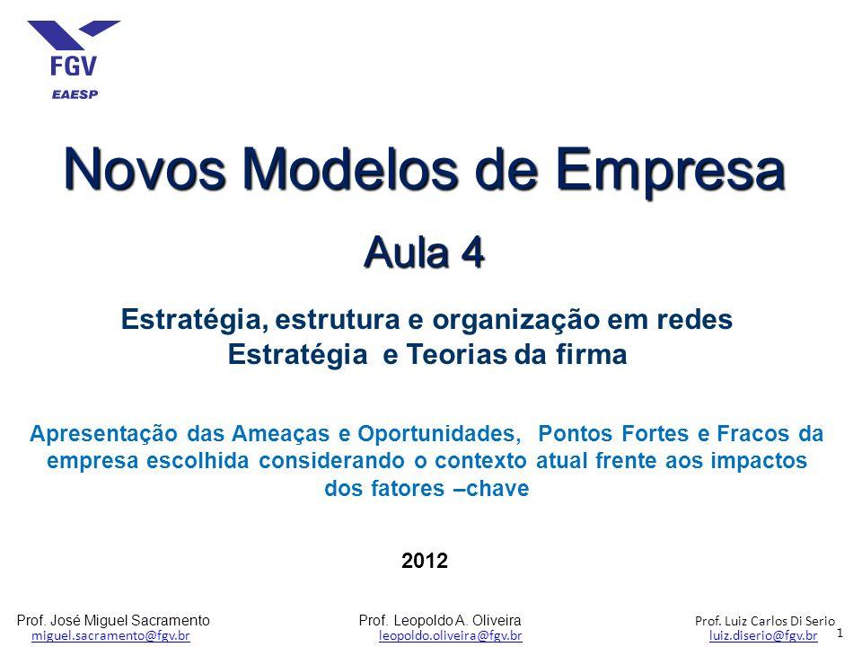 Prof. José Miguel Sacramento Prof. Leopoldo A. Oliveira Prof. Luiz Carlos Di Serio miguel.sacramento@fgv.br leopoldo.oliveira@fgv.br luiz.diserio@fgv.