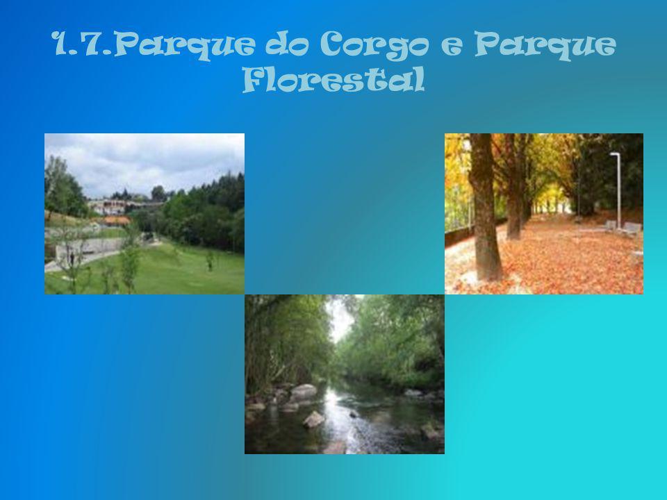 1.7.Parque do Corgo e Parque Florestal Do complexo de Codessais, fazem parte, ainda, vários equipamentos: as Piscinas Municipais, um campo de ténis, p