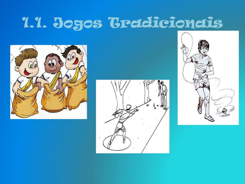 1.1. Jogos Tradicionais Jogo da malha - Cada equipa é constituído com dois ou mais jogadores, em que se lança a malha com o objectivo de atingir o pin