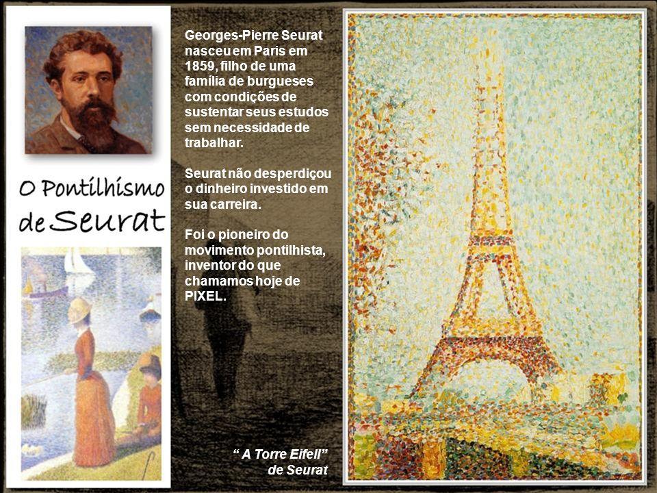 Georges-Pierre Seurat nasceu em Paris em 1859, filho de uma família de burgueses com condições de sustentar seus estudos sem necessidade de trabalhar.