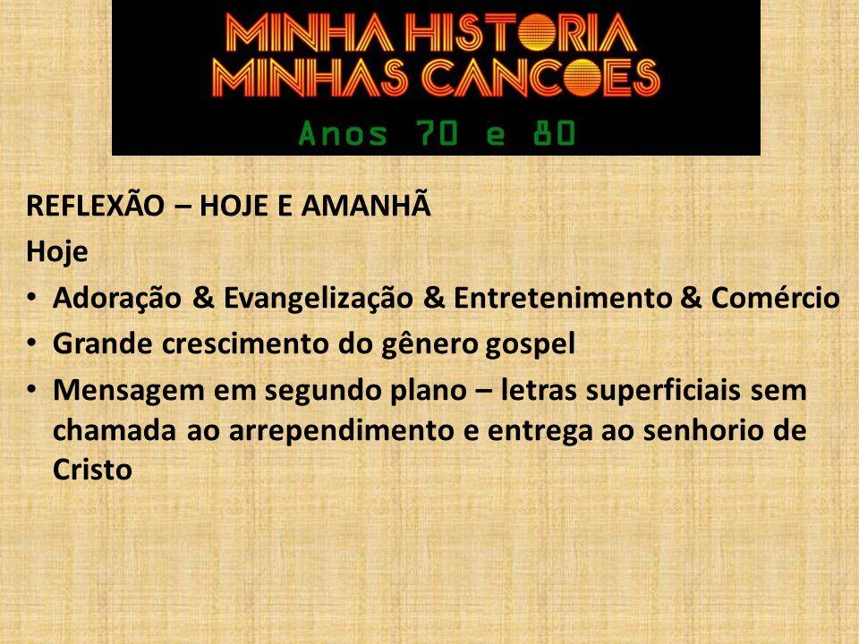REFLEXÃO – HOJE E AMANHÃ Amanhã.