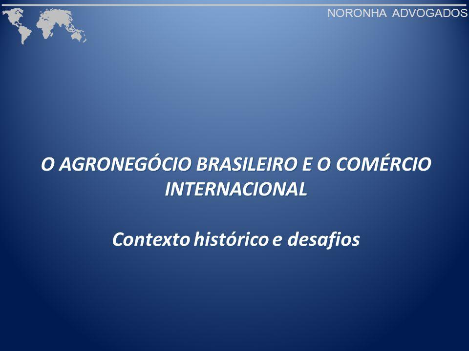 NORONHA ADVOGADOS Participação das exportações brasileiras no mercado mundial (2006) Fonte: Agropecuária Brasileira: Uma visão geral, Superintendência Técnica, CNA.