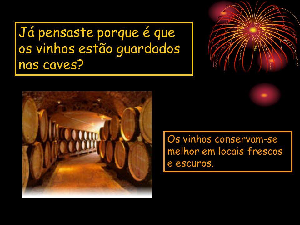 Já pensaste porque é que os vinhos estão guardados nas caves? Os vinhos conservam-se melhor em locais frescos e escuros.