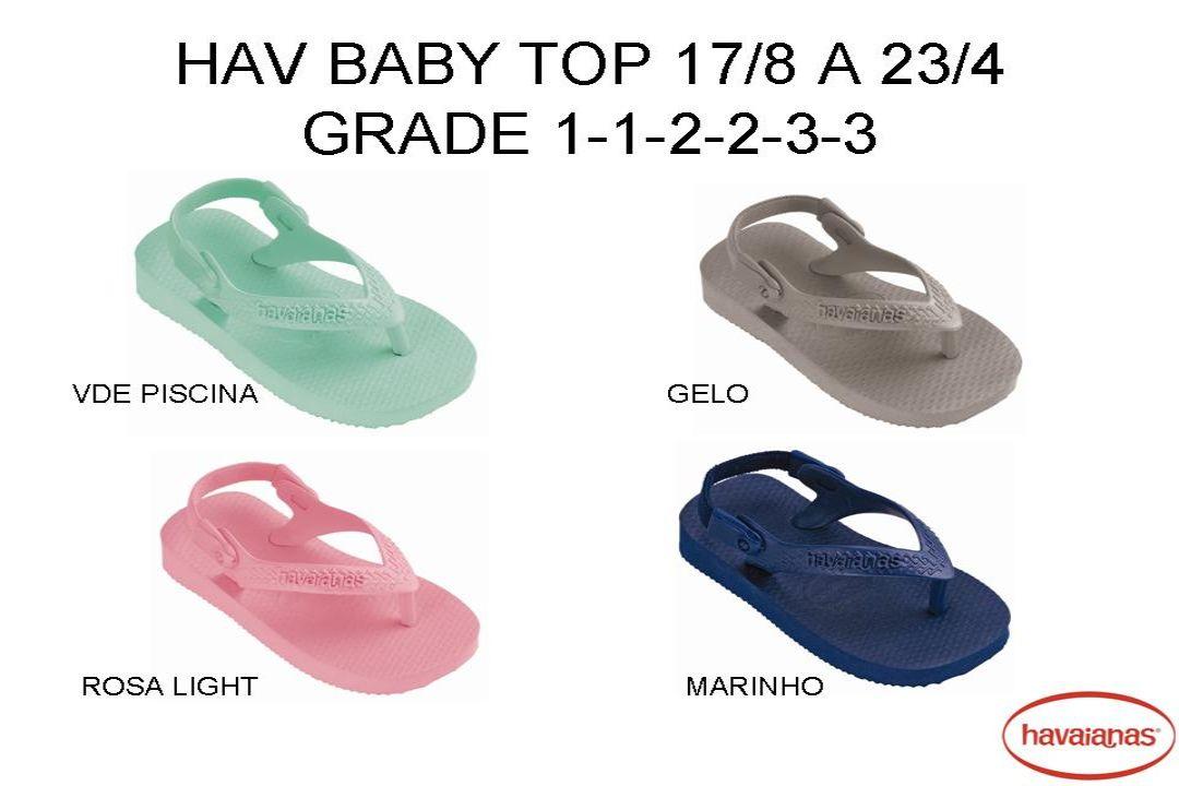 HAV FLORAL GYPSY FEMININO N.33/4 AO 39/0 grade 1-4-5-2 Rosa Bebê Azul Bebê Branco Verde Verde Hydro