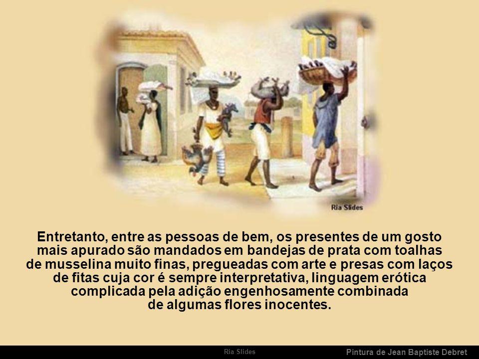 Ria Slides Pintura de Jean Baptiste Debret Presentes de Natal Dão-se presentes no Brasil especialmente por ocasião das festas de Natal, de 1º do Ano e