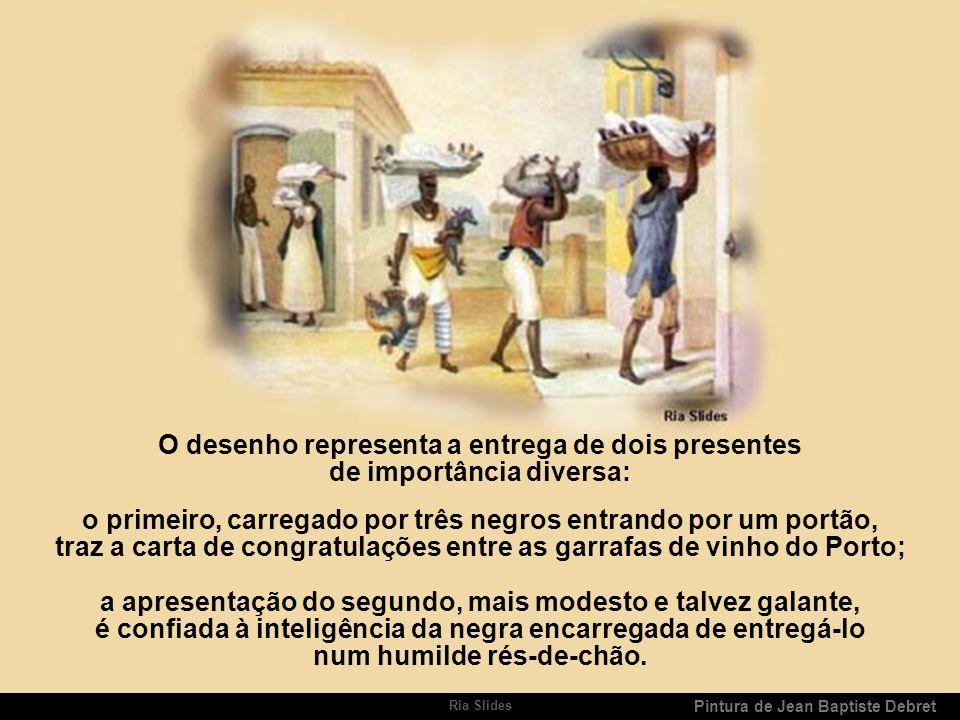 Ria Slides Pintura de Jean Baptiste Debret Eis no que se transformou no Brasil o aniversário da visita dos Reis Magos.