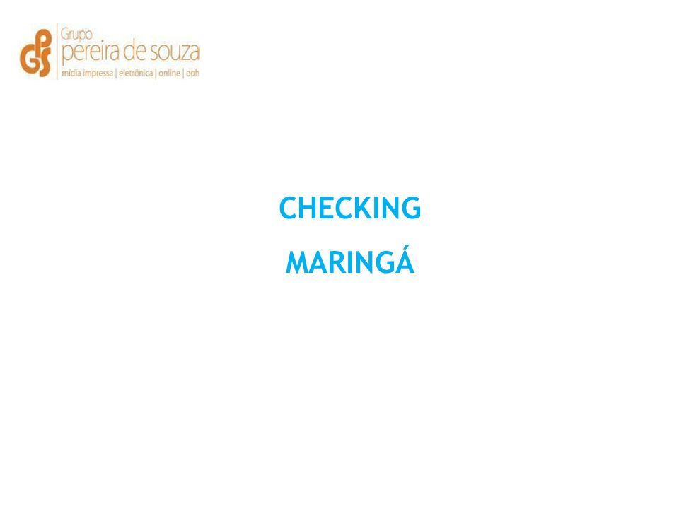 CHECKING MARINGÁ